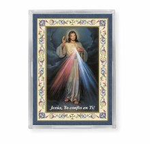 SPANISH DIVINE MERCY ACRYLIC EASEL WITH MAGNET