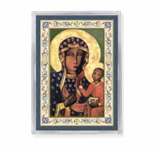 OUR LADY OF CZESTOCHOWA ACRYLIC EASEL WITH MAGNET
