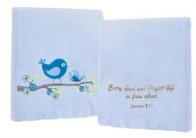 EVERY GOOD GIFT FLEECE BLUE THROW