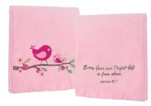 EVERY GOOD GIFT FLEECE PINK THROW