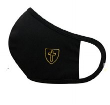 3 LAYERED MASK WITH EMBROIDERED CROSS