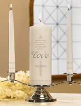 FAITH HOPE LOVE UNITY CANDLE SET