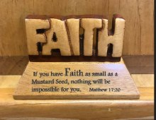 FAITH STANDING MESSAGE PLAQUE