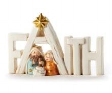 HOLY FAMILY FAITH NATIVITY SCENE