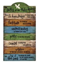 GIFTS OF THE HOLY SPIRIT WALL PLAQUE