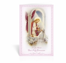GIRL AS YOU RECEIVE YOUR HOLY COMMUNION CARD
