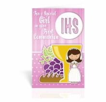 GIRL 1ST COMMUNION CARD