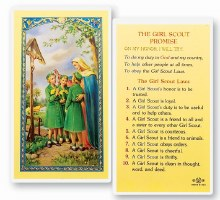 GIRL SCOUT PROMISE PRAYER CARD