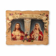 GOD BLESS OUR HOME VINTAGE BARN BOARD LOOK PLAQUE