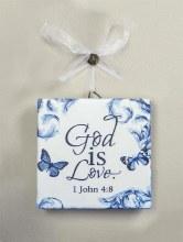 GOD IS LOVE CERAMIC MINI PLAQUE