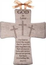 GOD IS LOVE CERAMIC INSPIRATIONAL CROSS