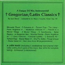 GREGORIAN/LATIN CLASSICS CD