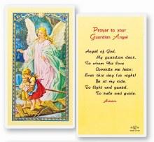 GUARDIAN ANGEL LAMINATED PRAYERCARD