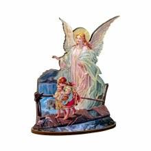 GUARDIAN ANGEL LASER CUT WOOD STATUE