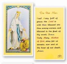 HAIL MARY LAMINATED PRAYERCARD