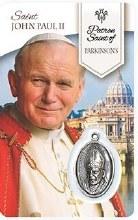 HEALING ST JOHN PAUL II PRAYER CARD WITH MEDAL