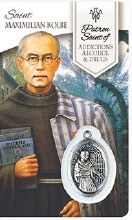 HEALING ST MAXIMILLIAN KOLBE PRAYER CARD WITH MEDAL