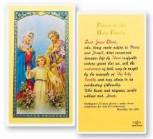 HOLY FAMILY PRAYERCARD