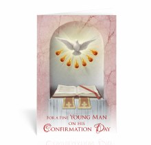 HOLY SPIRIT WITH BOOK CONFIRMATION CARD