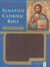 IGNATIUS BIBLE COMPACT BURGUNDY W/ZIPPER