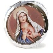 IMMACULATE HEART OF MARY POCKET MIRROR