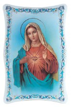 IMMACULATE HEART OF MARY GOLD STAMPED PLAQUE