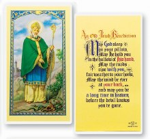 IRISH BENEDICTION ST PATRICK PRAYER CARD
