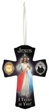 JESUS, HOLY SPIRIT AND ST FAUSTINA CROSS