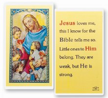 JESUS LOVES ME PRAYER CARD