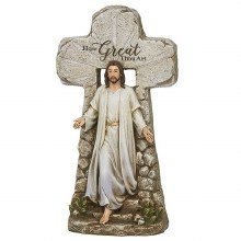 JESUS RISING FROM THE TOMB STATUE