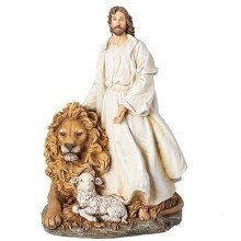 JESUS WITH LION AND LAMB