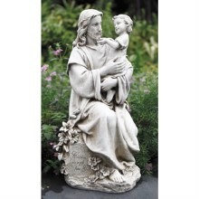 JESUS WITH CHILD GARDEN STATUE