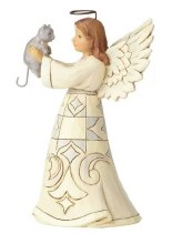 JIM SHORE ANGEL WITH CAT
