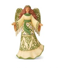 JIM SHORE IRISH ANGEL WITH CELTIC DRESS