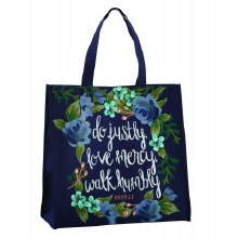 JUSTLY, MERCY, HUMBLY TOTE BAG