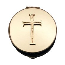 "LATIN CROSS PYX 1/2"" x 1&1/2"""