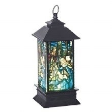 HOLY FAMILY LED LANTERN ORNAMENT