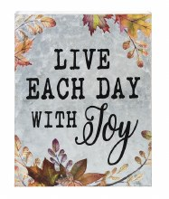 GALVANIZED WALL PLAQUE - LIVE EACH DAY