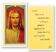 LORD HELP ME TO REMEMBER PRAYER CARD