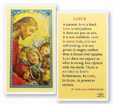 LOVE IS PATIENT PRAYER CARD