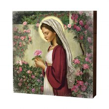 "10"" MADONNA OF THE ROSES BOX SIGN"