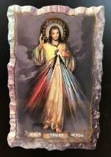 DIVINE MERCY WOOD MAGNET 2X3