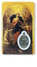 MARY UNTIER OF KNOTS PRAYER CARD WITH MEDAL