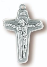 "BLESSED MOTHER WITH SON 1.25"" CROSS"