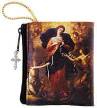 MARY, UNTIER OF KNOTS ZIPPERED ROSARY CASE