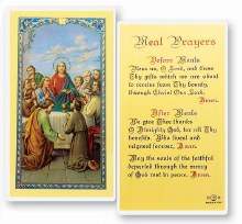 MEAL PRAYER PRAYERCARD