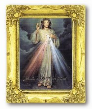 DIVINE MERCY ANTIQUE GOLD FRAME