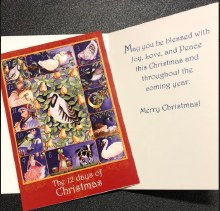 THE 12 DAYS OF CHRISTMAS BOXED CHRISTMAS CARDS