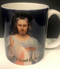 DIVINE MERCY MUG WITH GREAT LOVE QUOTE