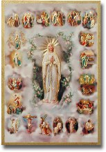 MYSTERIES OF THE ROSARY MOSAIC PLAQUE